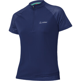 Löffler Rise Half-Zip Bike Shirt Women plum